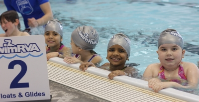 Learn-to-Swim students in the pool