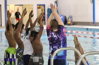 Hopewell Elementary students practice during the SwimRVA Learn-to-Swim program